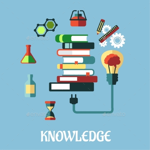 GraphicRiver Knowledge and Web Education Flat Design 9527189