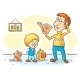 Father is checking Homework - GraphicRiver Item for Sale