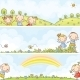 Banners with Children and Landscapes - GraphicRiver Item for Sale