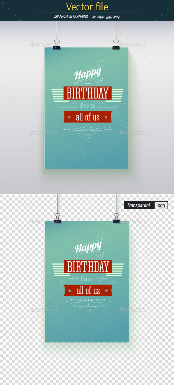 GraphicRiver Happy Birthday Poster 9527199