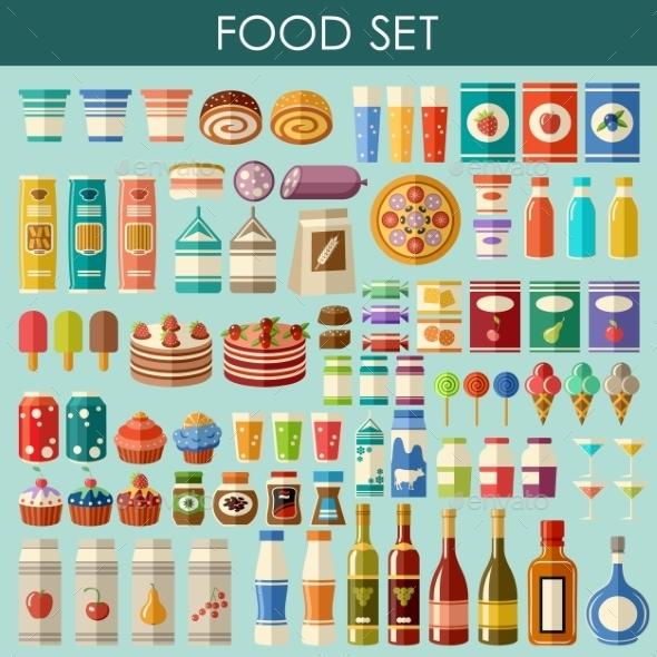 GraphicRiver Food Set 9527227