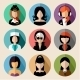 Set of Round Flat Icons with Women.  - GraphicRiver Item for Sale