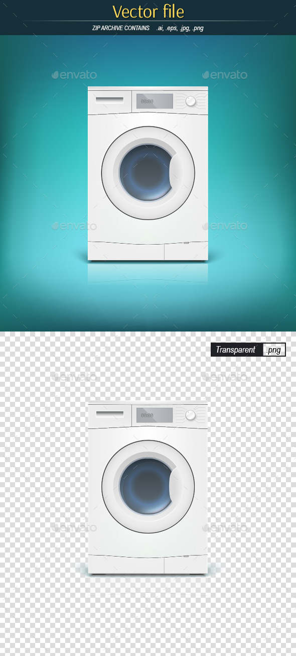 GraphicRiver Washing Machine Front View 9527260