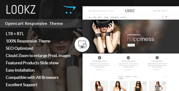 Lookz - Opencart Parallax Template - Fashion OpenCart