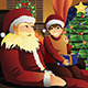 Santa Claus Talking with a Kid on his Lap - GraphicRiver Item for Sale