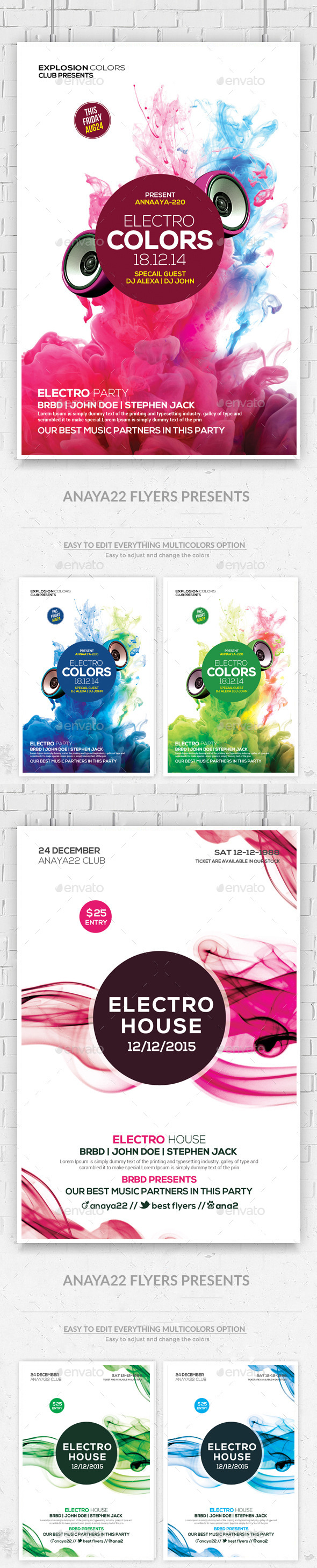 GraphicRiver Futuristic Flyer Templates 9527887