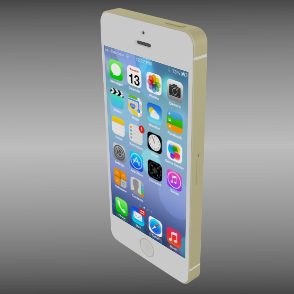 Iphone 5S gold - 3DOcean Item for Sale