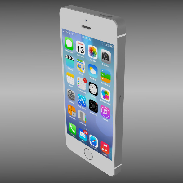 3DOcean Iphone 5S silver 9527987