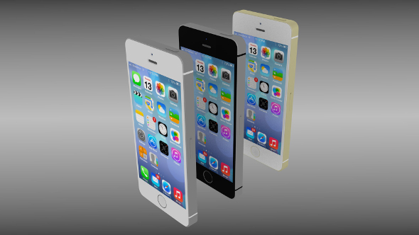 Iphone 5S silver/gray/gold - 3DOcean Item for Sale