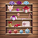 Wood Cupboard with Christmas Gifts - GraphicRiver Item for Sale