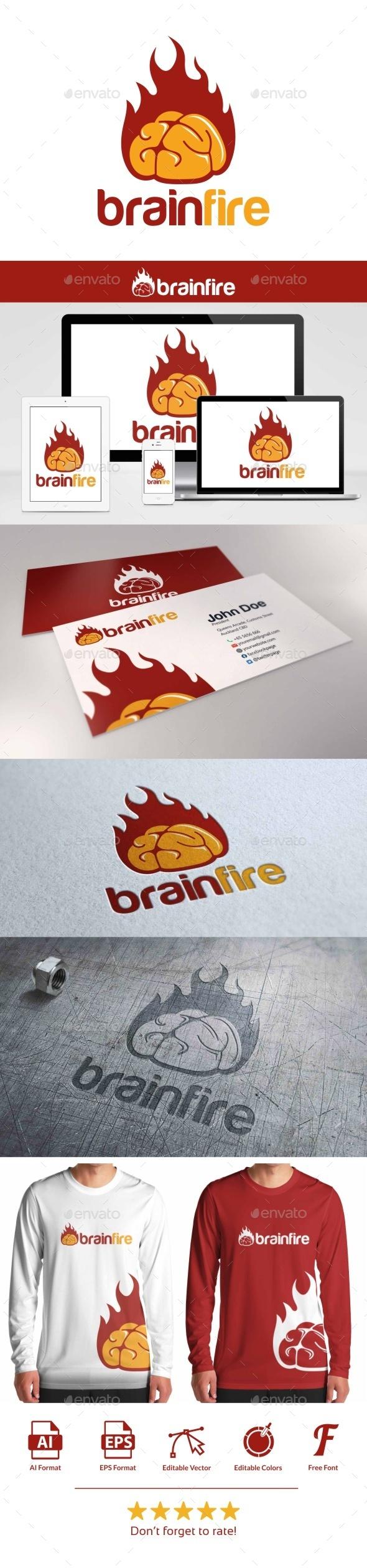 GraphicRiver Brain Fire Logo 9528471