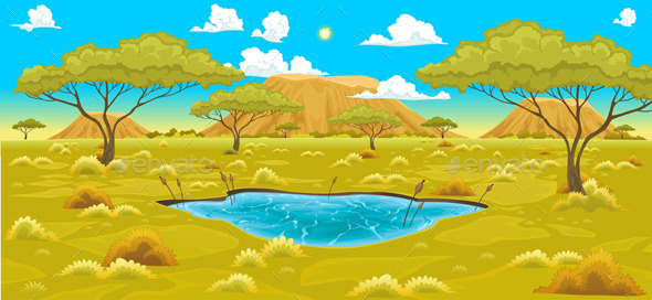 GraphicRiver African Landscape 9528514