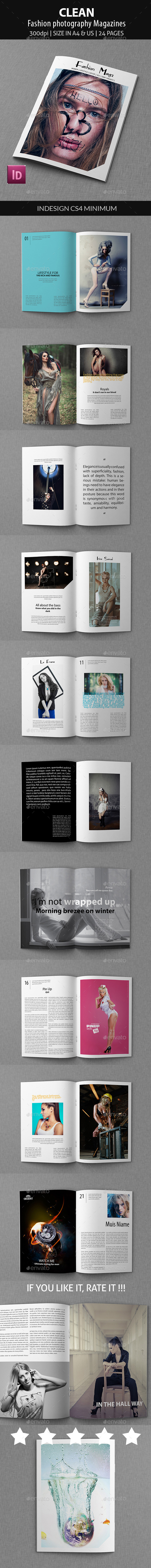 GraphicRiver Clean Fashion photography Magazines 9528862