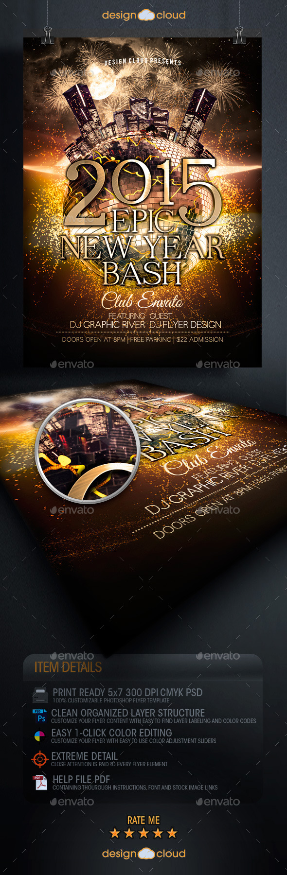 GraphicRiver Epic New Year Bash Party Flyer Template 9528919