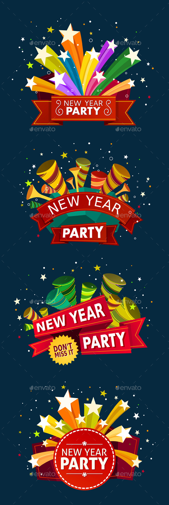 GraphicRiver New Year Party Event Tittle 9528927