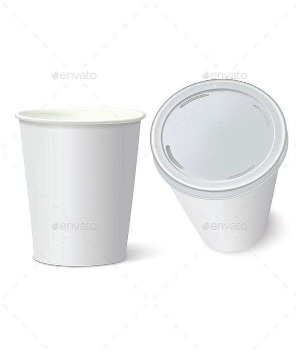 GraphicRiver White Paper Cups 9529033