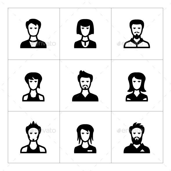 GraphicRiver Set Icons of People 9529050
