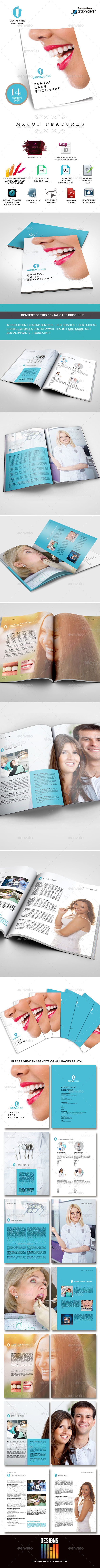 GraphicRiver Dental Clinic Services or Care Brochure 9529058