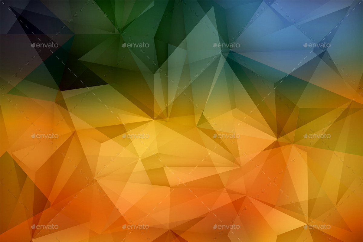 polygonal abstract colourful backgrounds by musiclove