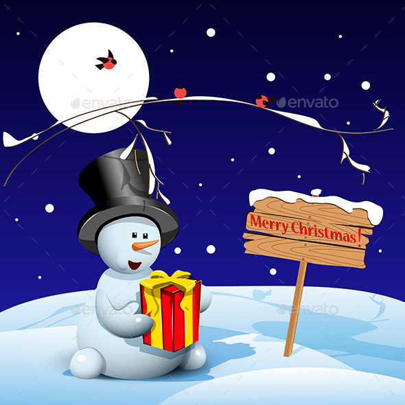GraphicRiver Christmas Snowman 9529215
