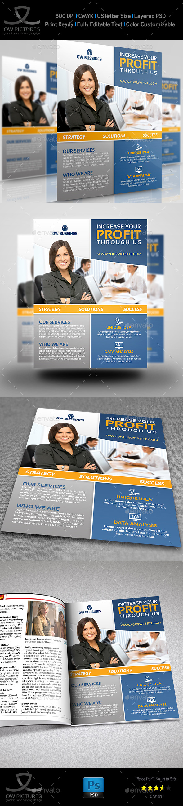 Corporate Business Flyer Template Vol.18
