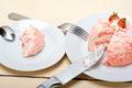 fresh strawberry and whipped cream dessert - PhotoDune Item for Sale
