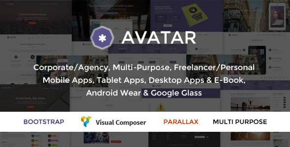 ThemeForest Avatar One & Multi Page Parallax WordPress Theme 9450806