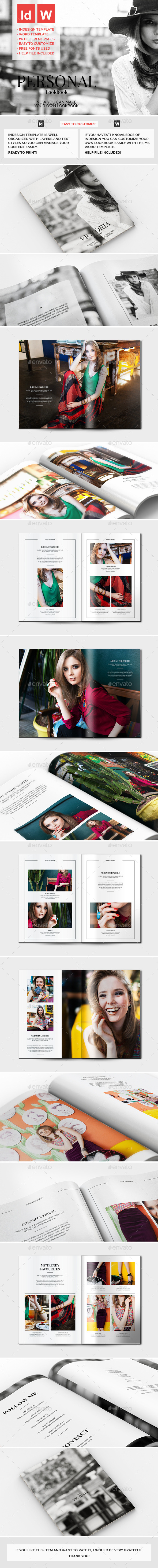 GraphicRiver Personal Lookbook 9529612