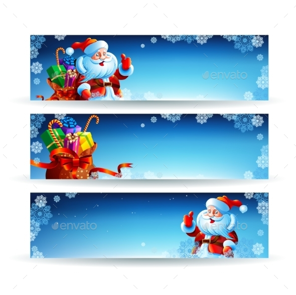 GraphicRiver Banner with a Bag of Christmas Gifts 9529617