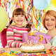 happy daughter and mother with gift birthday party - PhotoDune Item for Sale