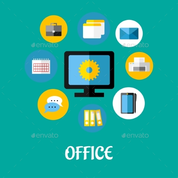 GraphicRiver Office Icon 9530020