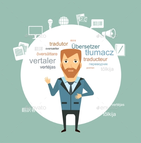 GraphicRiver Translator Illustration 9530107