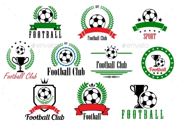 GraphicRiver Set of Football Badges 9530248
