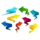 Set of Colorful Folded Origami Arrows - GraphicRiver Item for Sale