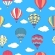 Seamless Pattern of Hot Air Balloons - GraphicRiver Item for Sale