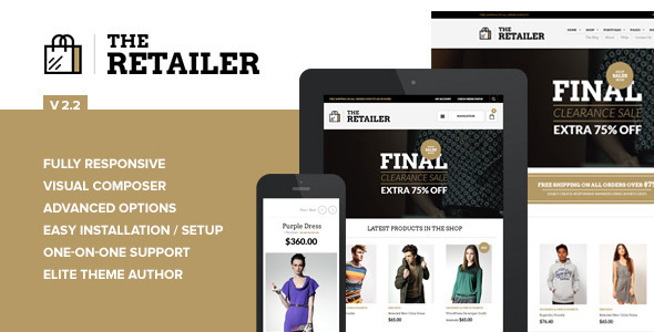 The Retailer - Responsive WordPress Theme - WooCommerce eCommerce