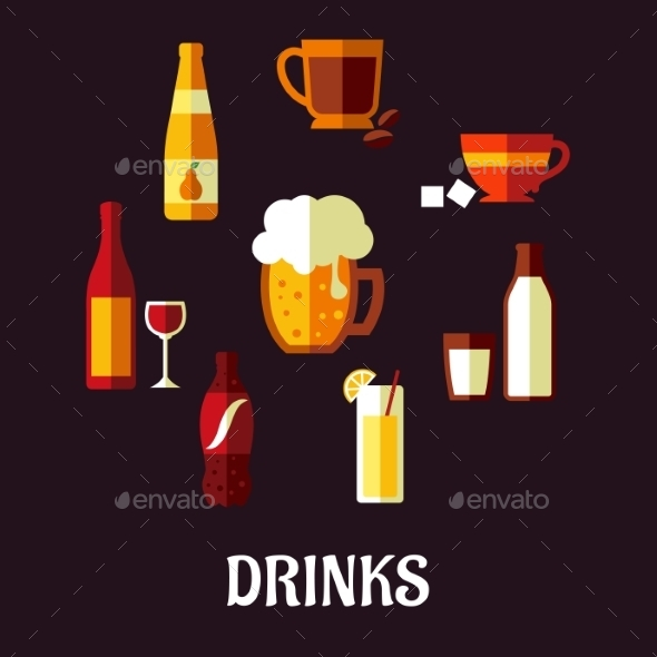 GraphicRiver Drinks and Beverages Icons 9530382
