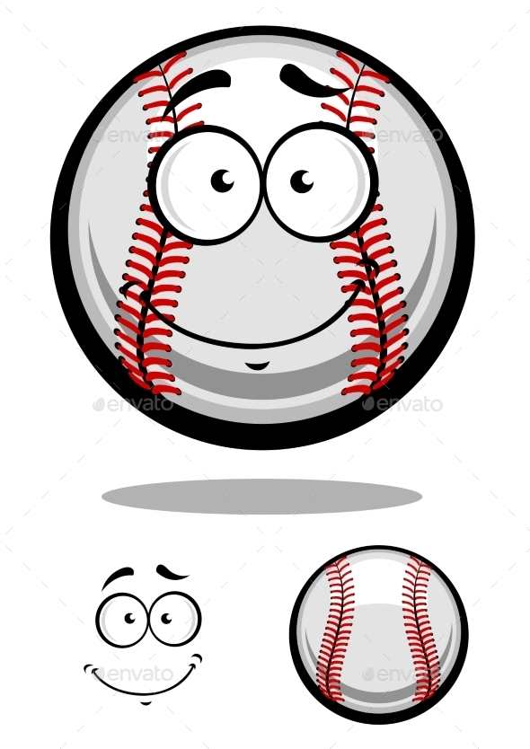GraphicRiver Smiling Cartoon Baseball 9530464