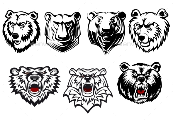 GraphicRiver Bear Mascots 9530535