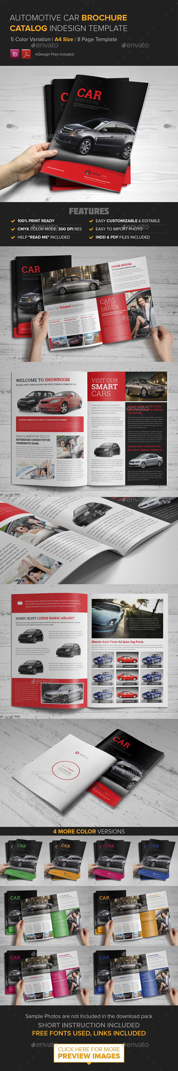GraphicRiver Automotive Car Brochure Catalog InDesign Template 9530568