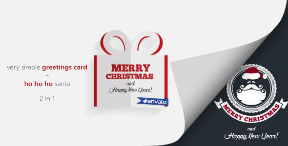 Very Simple Greeting Card & Ho Ho Ho Santa
