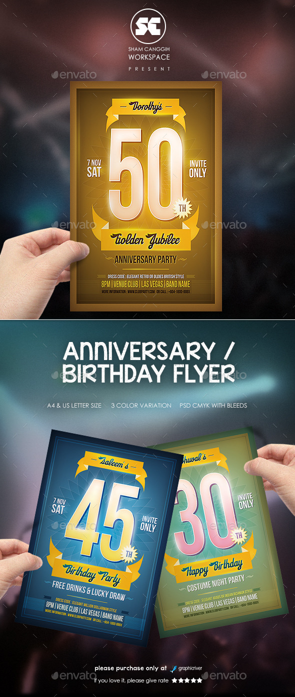 GraphicRiver Anniversary Birthday Flyer 9532530