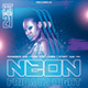 Neon Fridayz Night PSD Flyer Template - GraphicRiver Item for Sale