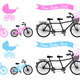 Baby Shower With Tandem Bicycle - GraphicRiver Item for Sale