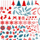 Christmas Design Elements Set - GraphicRiver Item for Sale
