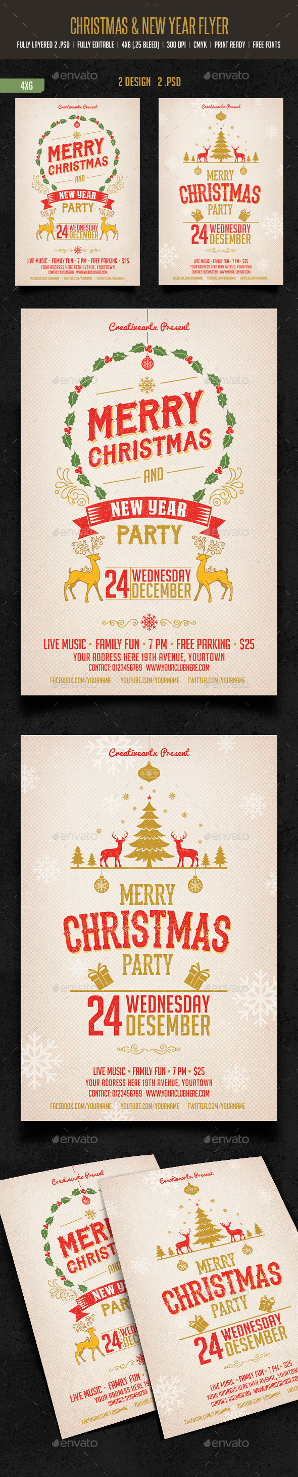 GraphicRiver Merry Christmas & New Year Party 9533129