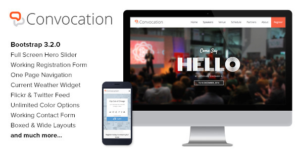 ThemeForest Convocation Event and Conference Landing Page 9533241