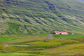 Icelandic Nature Landscape with Mountains and Dwellings - PhotoDune Item for Sale