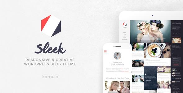 Sleek Responsive & Creative WordPress Blog Theme