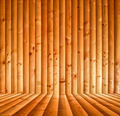 Abstract interior with orange parquet wooden floor - PhotoDune Item for Sale